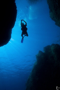 Diving a place named &quot;The Canyon&quot; in Turkey. I love the b... by Rico Besserdich 